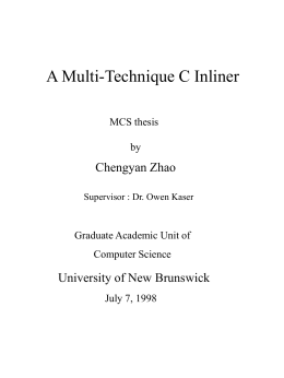 A Multi-Technique C Inliner