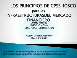 CPSS-IOSCO STANDARDS FOR FINANCIAL MARKET …