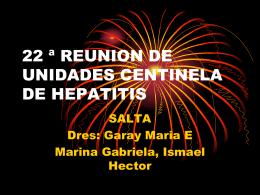 UNIDAD CENTINELA DE HEPATITIS