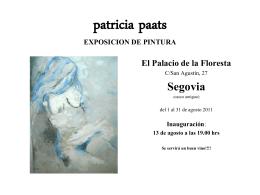 patricia paats EXPOSICION DE PINTURA