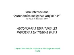 AUTONOMIAS TERRITORIALES INDIGENAS EN TIERRAS …