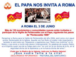 A ROMA EL 8 DE SEPTIEMBRE