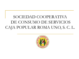 SOCIEDAD COOPERATIVA DE CONSUMO DE SERVICIOS …
