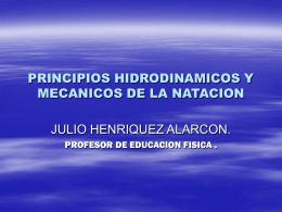 PRINCIPIOS HIDRODINAMICOS Y MECANICOS DE LA …