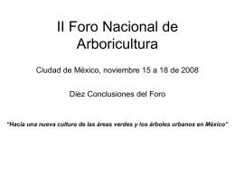 II Foro Nacional de Arboricultura