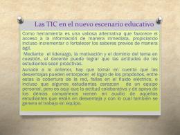 Las TIC en el nuevo escenario educativo