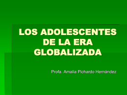 Los adolescentes de la era global