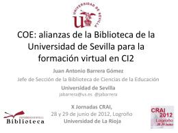 COE: alianzas de la Biblioteca de la Universidad de