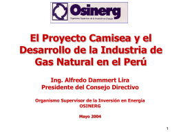 Curso Internacional Gas Natural: Mercados Futuros y