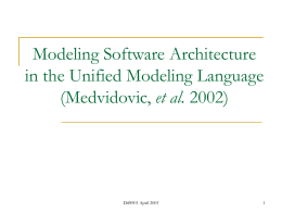 Modeling Software Architecture in the Unified Modeling