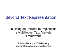 Beyond Text Representation