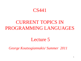 CS441 Lecture 4