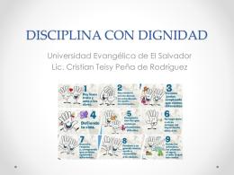 DISCIPLINA CON DIGNIDAD