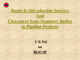 Pipeline Surveying Works - Petroleum Federation of India