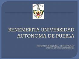 BENEMERITA UNIVERSIDAD AUTONOMA DE PUEBLA …