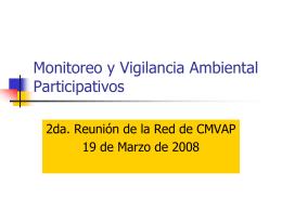 Monitoreo y Vigilancia Ambiental Participativos