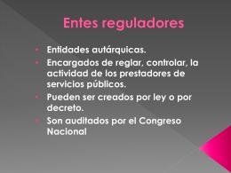 Entes reguladores - UAIDerechoAdministrativo