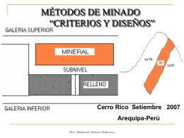 METODOS DE MINADO - Geco