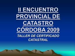 ENCUENTRO PROVINCIAL DE CATASTRO