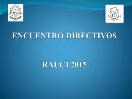 ENCUENTRO DIRECTIVOS RAUCI 2015