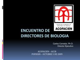 ENCUENTRO DE DIRECTORES DE BIOLOGIA
