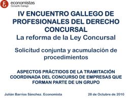 IV ENCUENTRO GALLEGO DEL PROFESIONALES DEL …