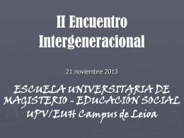 II Encuentro Intergeneracional