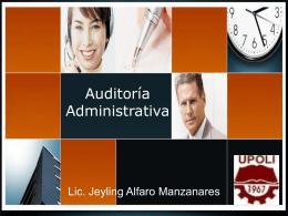 Diapositiva 1 - MSc. Jeyling Alfaro Manzanares