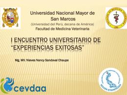 """I Encuentro Universitario de """"Experiencias exitosas"""""""