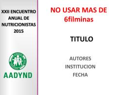 TITULO - AADYND | Inicio