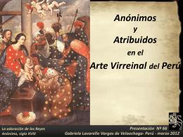ANONIMOS Y ADJUDICADOS ARTE VIRREINAL PERUANO
