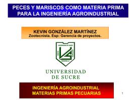 Diapositiva 1 - MATERIAS PRIMAS PECUARIAS