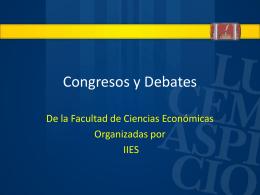 Congresos y Debates