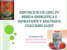 EXPOSICION DE GING FU BEBIDA ENERGETICA Y …