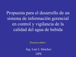 Propuesta para el desarrollo de un proyecto piloto que
