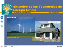 Status of Renewable Energy Technologies