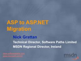 ASP to ASP.NET Migration