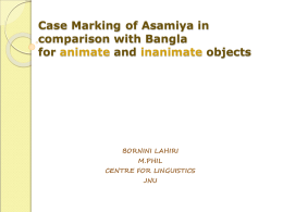 Case Marking of Asamiya in comparison with Bangla for