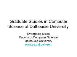 Graduate Studies in Canada