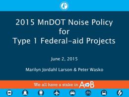 MnDOT Presentation