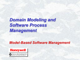 Domain Modeling and Software Process Management
