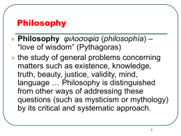 Roots of Western Philosophy