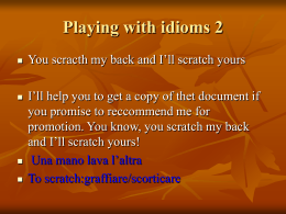 Playing with idioms 2