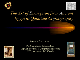 The Art of Encryption from Ancient Egypt to Quantum