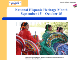 Hispanic Awareness Month