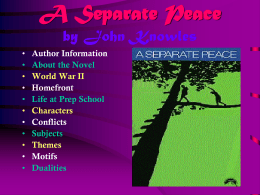 A Separate Peace - Klein Independent School District