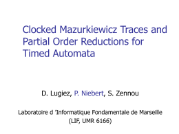 Clocked Mazurkiewicz Traces and Partial Order …