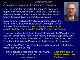 christian walk - PowerPoint Presentations Free to …