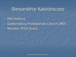 Stewardship Kaleidoscope - Synod of Lincoln Trails, …