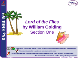 Lord of the Flies - Section One